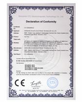 卓派荣获CE质检证明证书(英文)