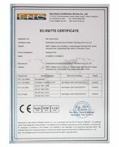卓派获得CE质检证明证书